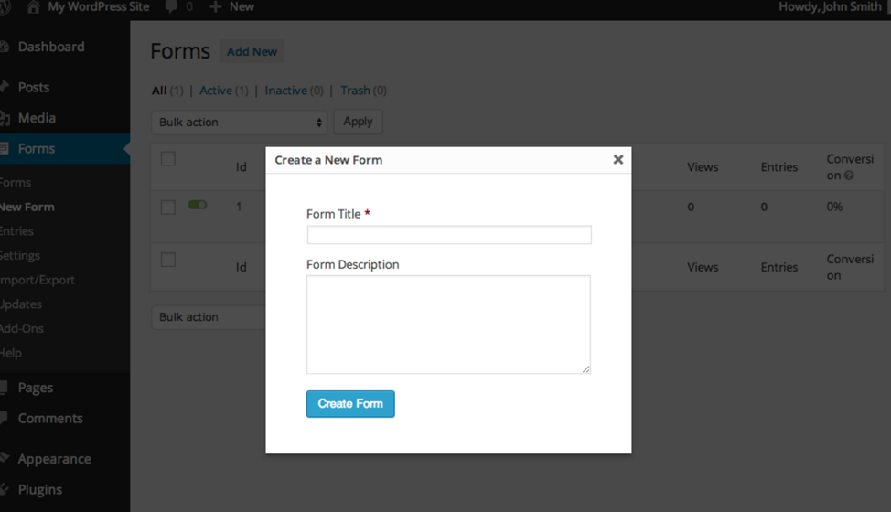 creating new contact form