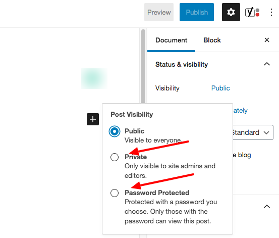 How to make WordPress posts private